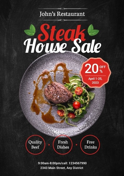 Steak House Special Sale
