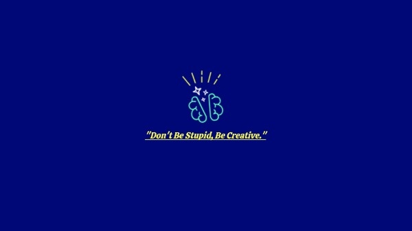 Blue Creative Idea Wallpaper