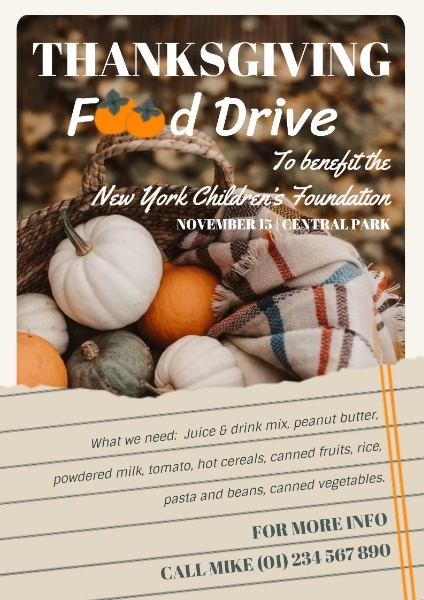 Autumn Thanksgiving Food Drive