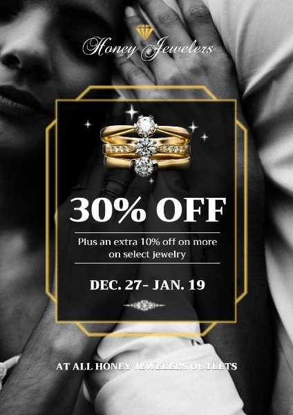 Black And White Jewelry Sale