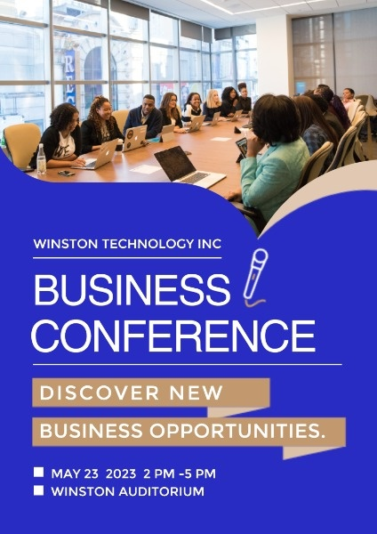 Blue Business Conference Poster