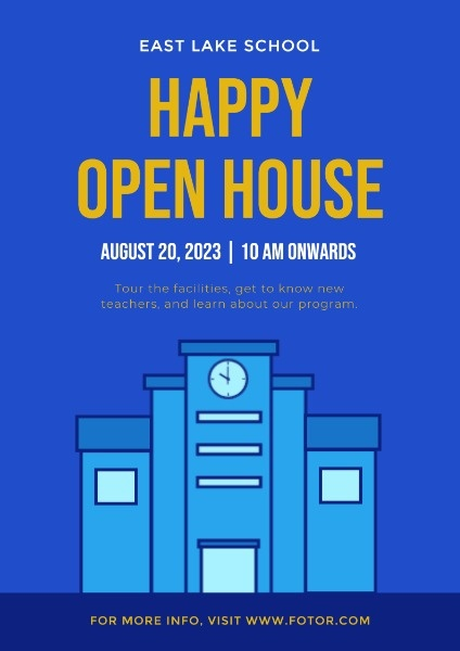 Blue Open House Poster