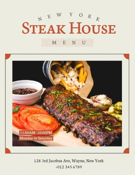 Steak House Cover