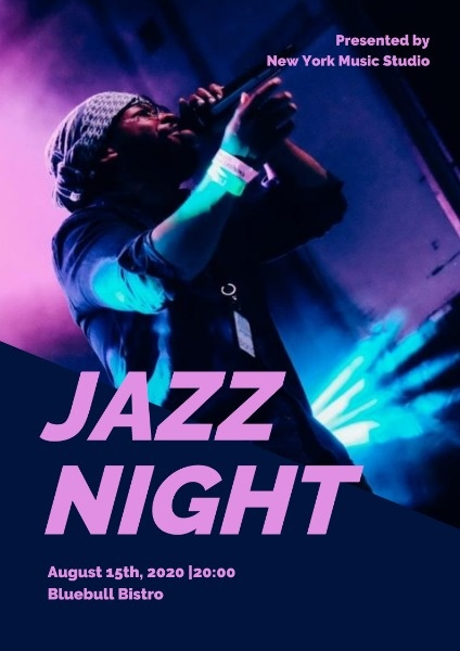 Simple Jazz Night Performance Poster