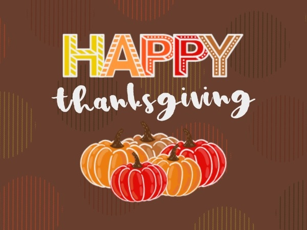 Happy Thanksgiving Pumpkin Card