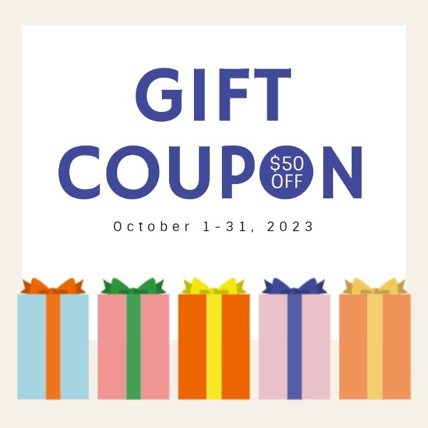 White Simple Gift Box Coupon