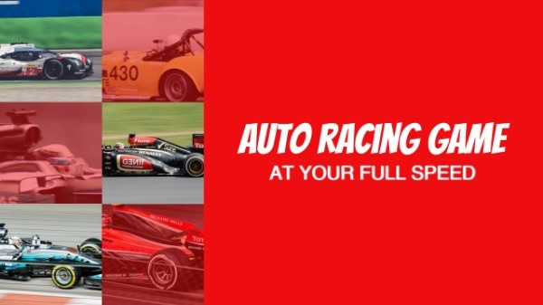 Red Background Racing Cars Auto Racing Game Youtube Channel Art