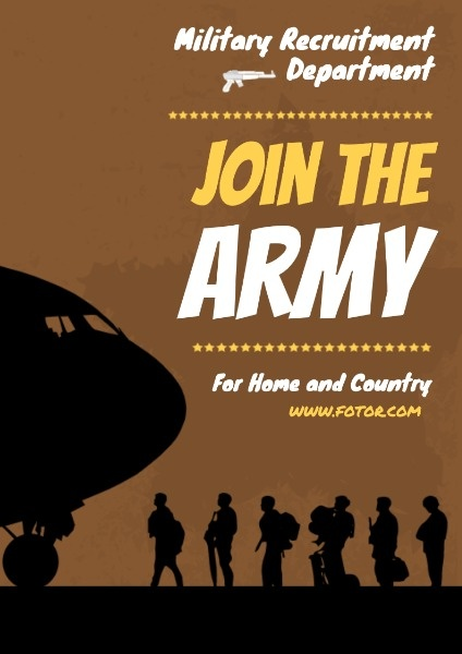 Join The Army Recruitment Poster