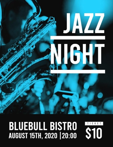 Jazz Night Event Program Flow