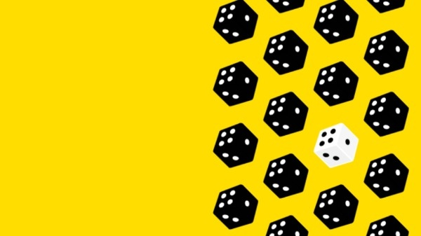 Yellow Game Dice Quote