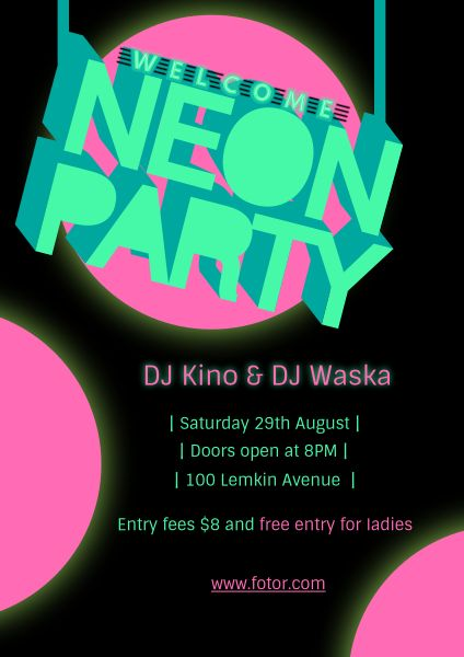 Neon Music Party
