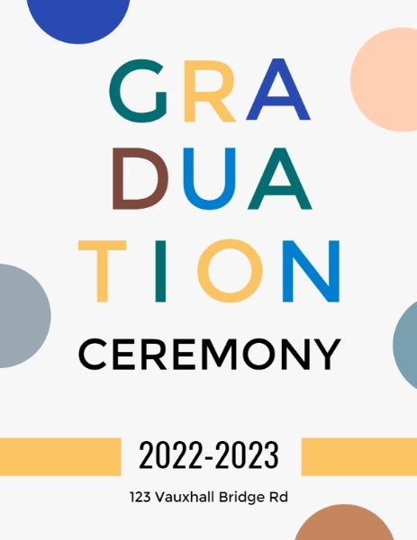 Cute White Graduation Ceremony