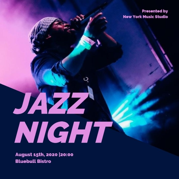 Crazy Jazz Night Instagram Post