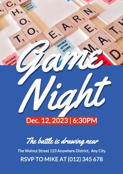 Blue Game Night Party