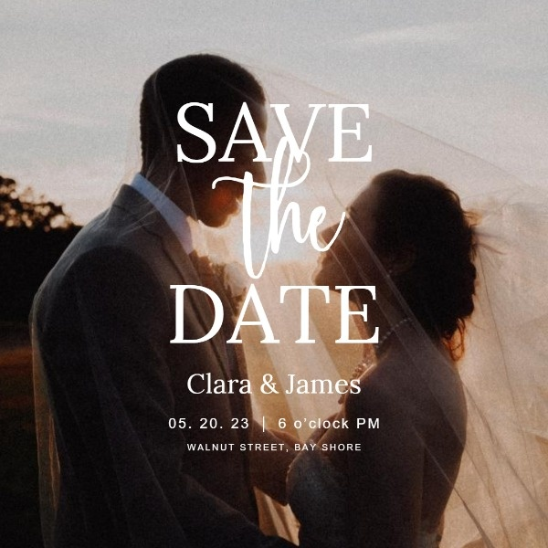 Romantic Save The Date Invitation