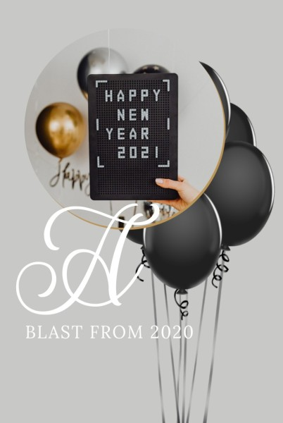 White Black New Year Blast Pinterest Post