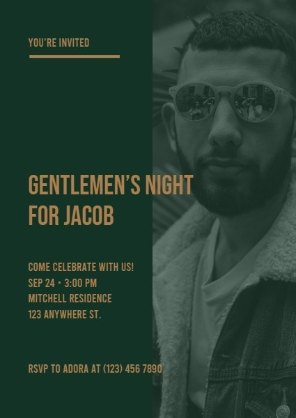 Green Gentlemen's Night Party