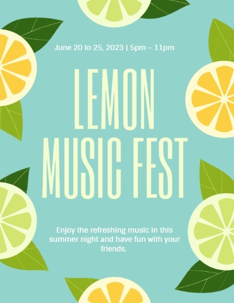 Blue And Yellow Lemon Music Fest