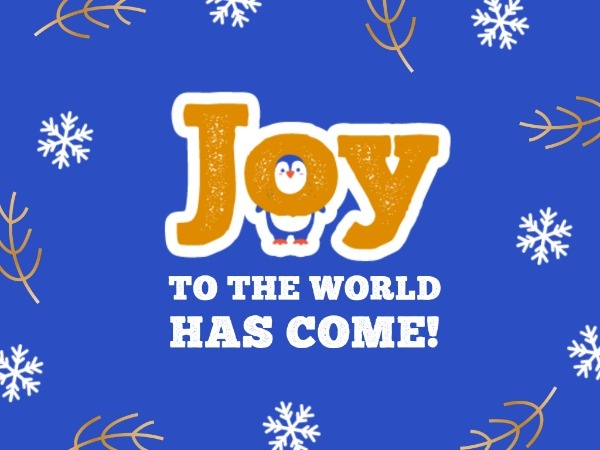 Blue Joy Christmas Wishes