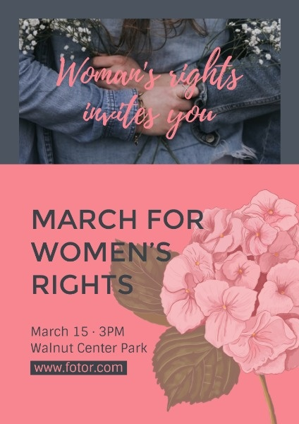 Red March For Women's Right