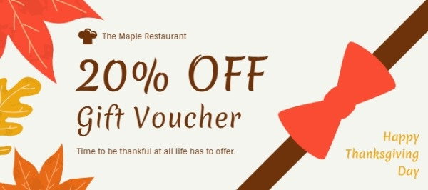 Happy Thanksgiving Voucher
