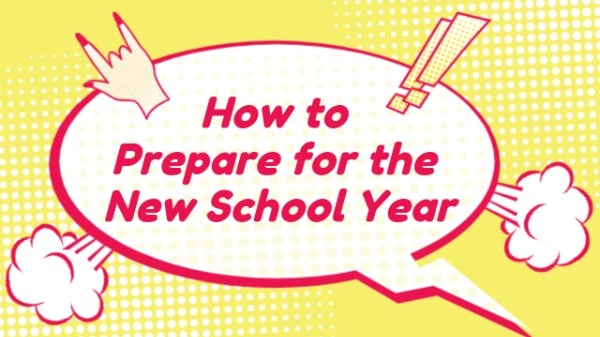 New School Year Preparation YouTube Thumbnail Template