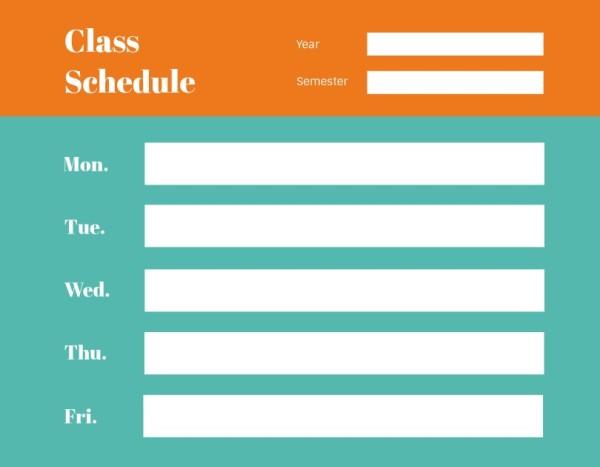 11class schedule_通用_wl