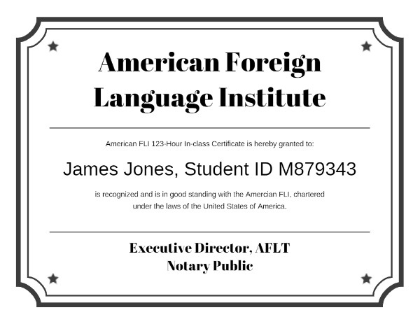 Foreign Language Certificate