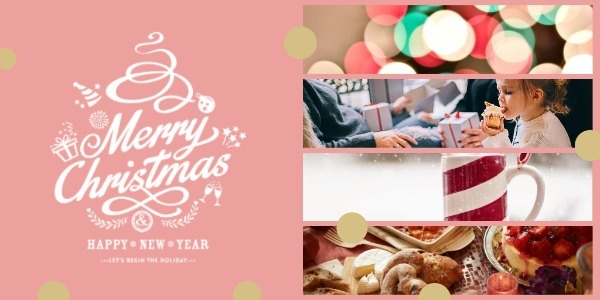 Pink Christmas Warm Collage
