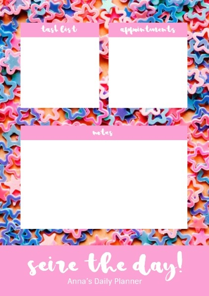 Pink Pentagon Background Planner