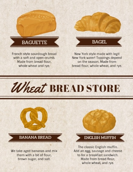 Bread Store Menu