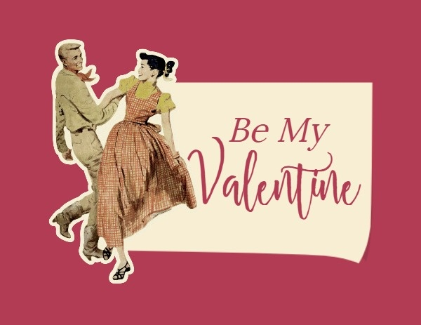 Be My Valentine Vintage Label