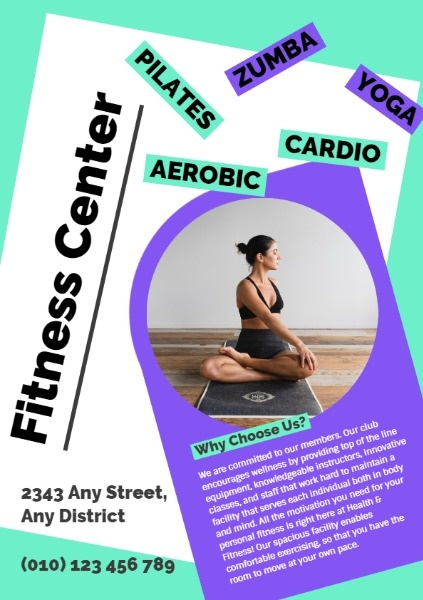 Fitness Center Promotional Flyer