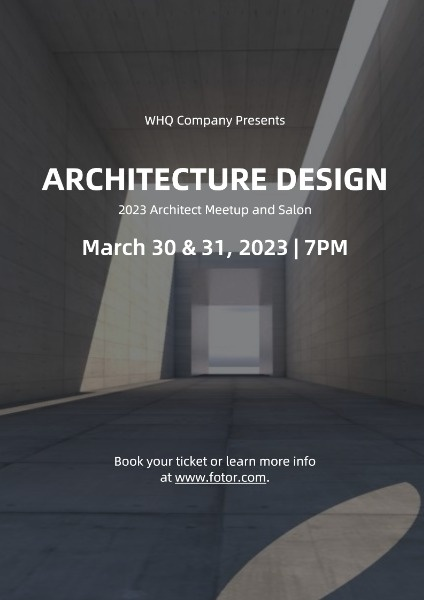 Architecture Design Event Poster