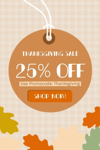 Orange Thanksgiving Discount