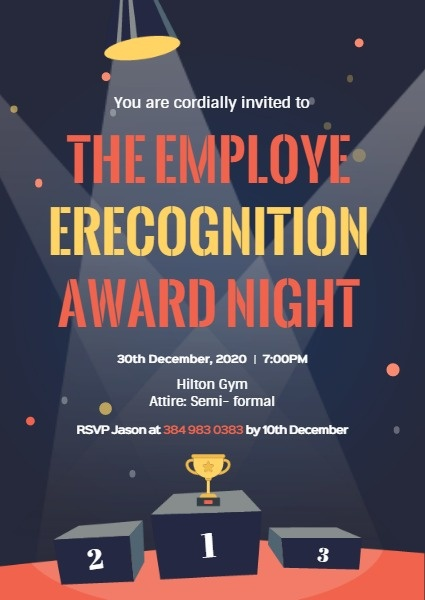 Employee Recognition Award Night