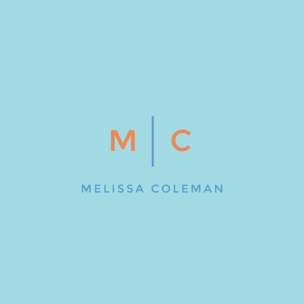 Blue Name Logo Design