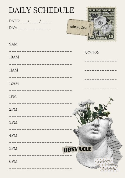 Vintage Style Day Schedule