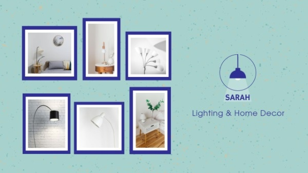 Blue Home Lighting Sale YouTube Banner