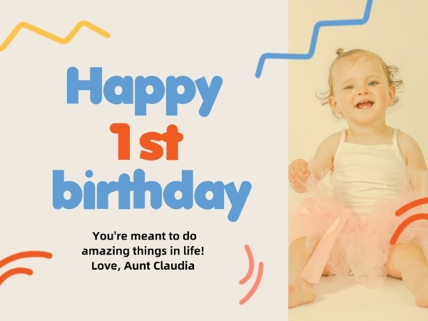 Little Baby Birthday Card