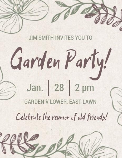 Hand-drawn Plant Garden Party