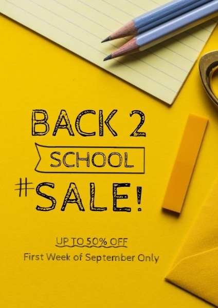Yellow Back To School Sale