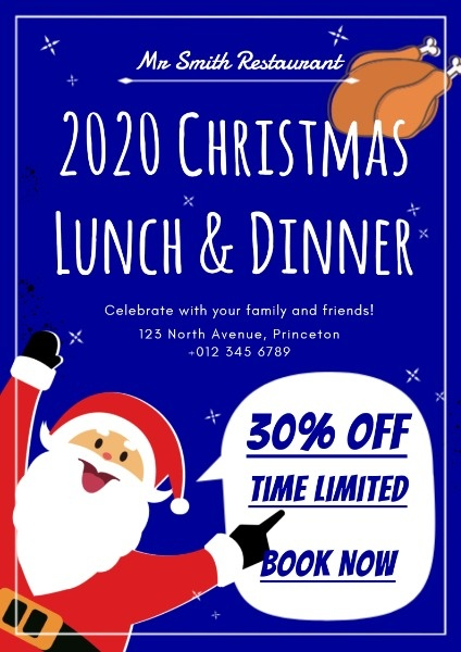 Online Christmas Restaurant Special Offer Poster Template Fotor Design Maker