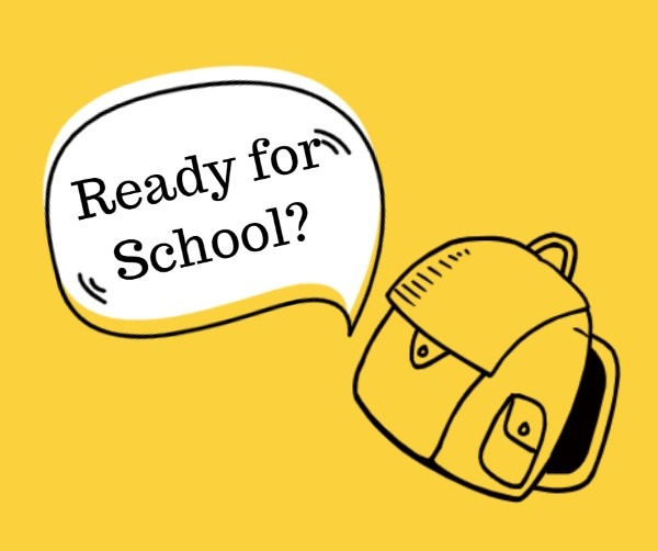 Yellow Ready For School Facebook Post