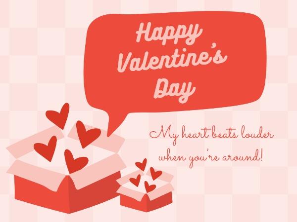 pink valentine's day box