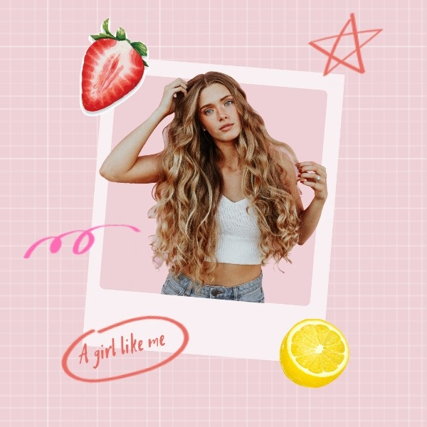 Cute Girl Fruit Photo Design