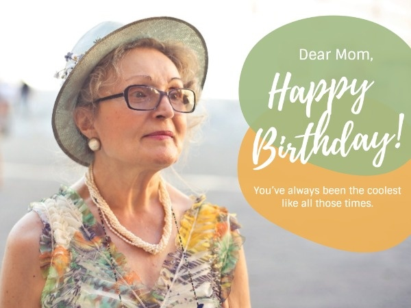 Mother's Birthday Wishes Card