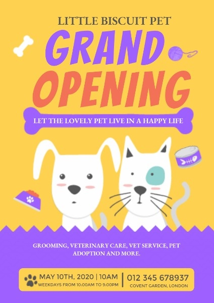 Pet Store Grand Opening