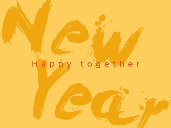 Yellow new year greeting
