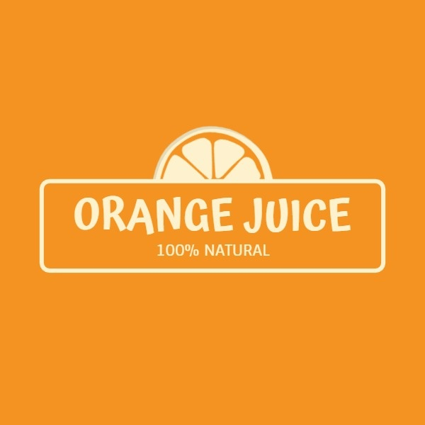 Yellow Orange Juice Stand Logo
